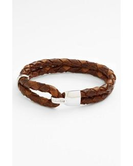 'beacon' Braided Leather Bracelet