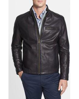 Lambskin Leather Moto Jacket