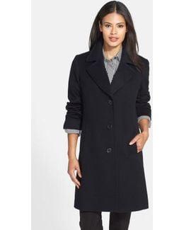 Notch Collar Wool Walking Coat