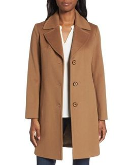 Notch Collar Wool Walking Coat