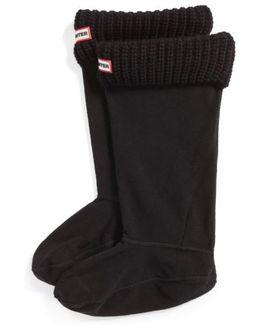 Tall Cardigan Knit Cuff Welly Boot Socks