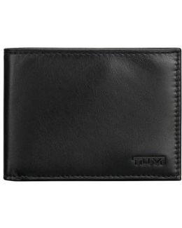 Delta Double Id Lock(tm) Shielded Leather Wallet