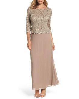 Mock Two-piece Dress