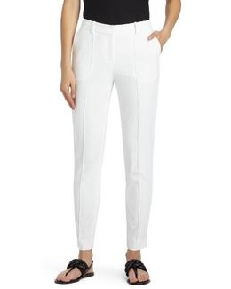 Seamed Back Slit Pants