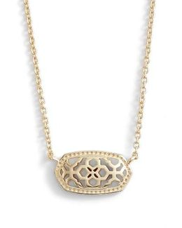 Elisa Openwork Pendant Necklace