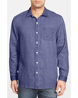 'sea Glass Breezer' Original Fit Linen Shirt
