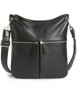 'veau' Leather Crossbody Bag