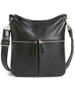 'veau' Leather Crossbody Bag