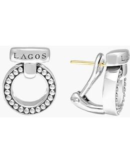 'enso' Caviar(tm) Clip Earrings