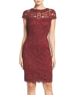 Illusion Yoke Lace Sheath Dress