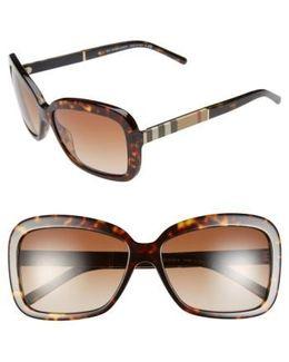 58mm Retro Sunglasses - Havana