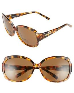 'elizabeth' 61mm Reading Sunglasses - Amber/ Tortoise