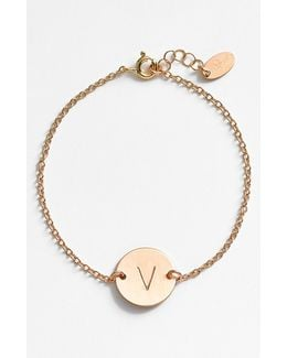 14k-gold Fill Initial Disc Bracelet