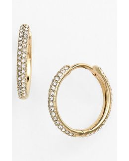 Small Pave Hoop Earrings (nordstrom Exclusive)