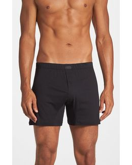 Pima Cotton Knit Boxers