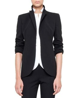 'pentagon' Double Face Wool Jacket