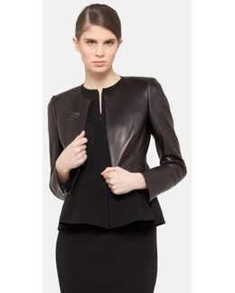 'hasso' Leather Crop Jacket