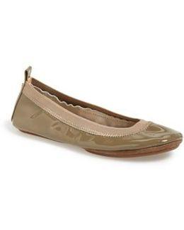 'samara' Patent Leather Foldable Ballet Flat
