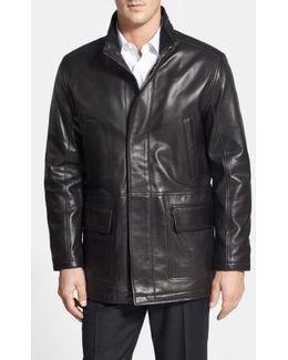 Lambskin Leather Car Coat