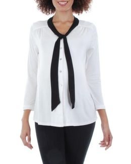 'kitty' Tie Neck Maternity Top