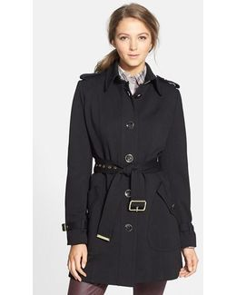 Single Breasted Soft Shell Trench Coat