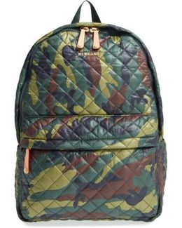 'metro' Quilted Oxford Nylon Backpack