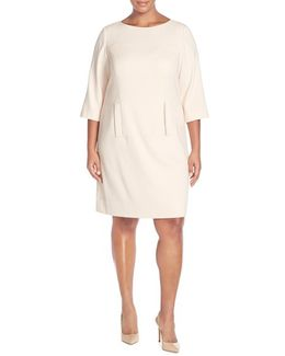 Bateau-Neck Shift Dress