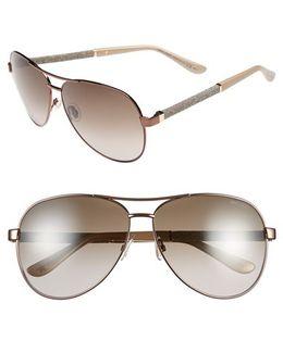 61mm Aviator Sunglasses - Bronze