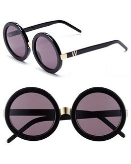 'malibu' 56mm Round Sunglasses