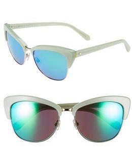 'genette' 56mm Cat Eye Sunglasses - Mint