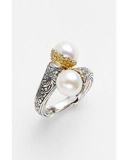 'hermione' Pearl Coil Ring