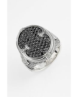 'plato' Pave Etched Ring