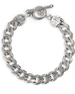 Silver Classics Etched Link Bracelet