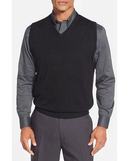 'douglas' Merino Wool Blend V-neck Sweater Vest