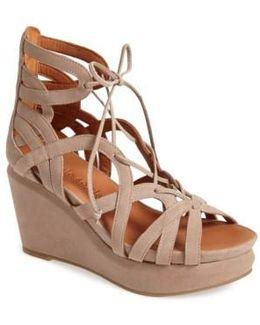 'joy' Lace Up Nubuck Sandal