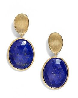 Lunaria Semiprecious Stone Drop Earrings