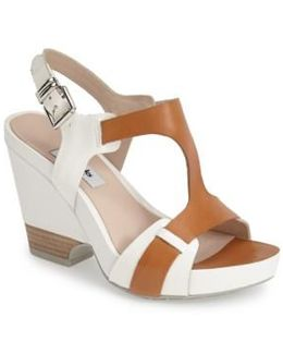 'Rosalie Petal' Demi-Wedge Leather Sandal