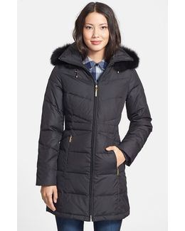 Fur-Trim Quilted Parka