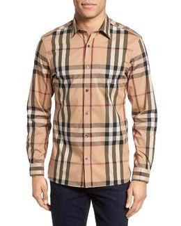 'nelson' Trim Fit Check Sport Shirt