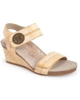 'arielle' Leather Wedge Sandal