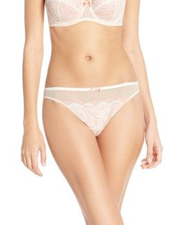 'b.sultry' Lace Front Thong