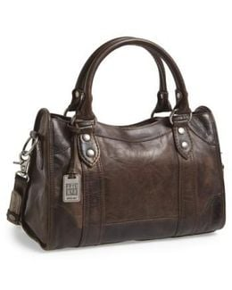 'melissa' Washed Leather Satchel