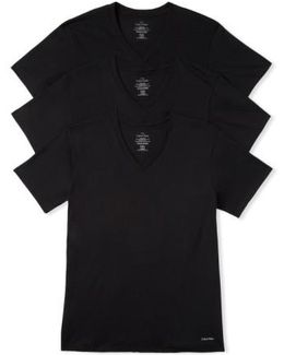 3-pack Classic Fit T-shirt, Black