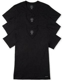 3-pack Classic Fit T-shirt, Black
