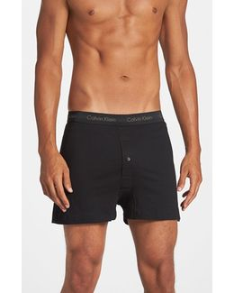 3-pack Cotton Boxers, Black