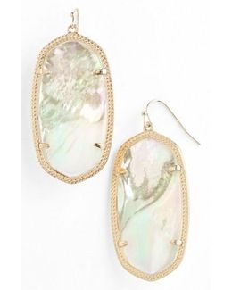'danielle - Large' Oval Statement Earrings