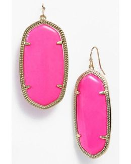 Danielle - Large Oval Statement Earrings