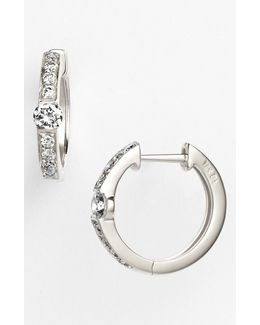 'linea' Small Diamond Hoop Earrings (nordstrom Exclusive)