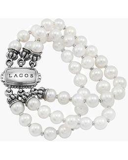 'luna' Triple Strand Pearl Bracelet (online Only)
