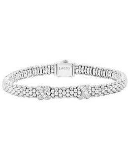 'signature Caviar' Diamond Rope Bracelet (online Only)